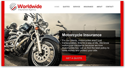 insurance website template - united