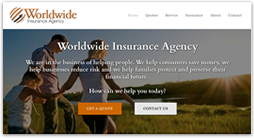 insurance website template - archer