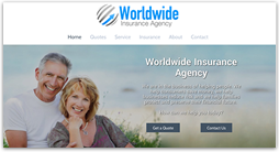 insurance website template - edge
