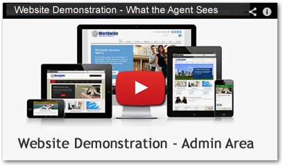 insurance agency website agent view