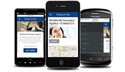 mobile friendly insurance web design