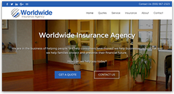 insurance website template - prime