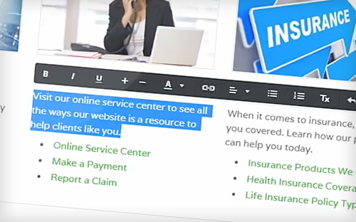 easy to use insurance websites